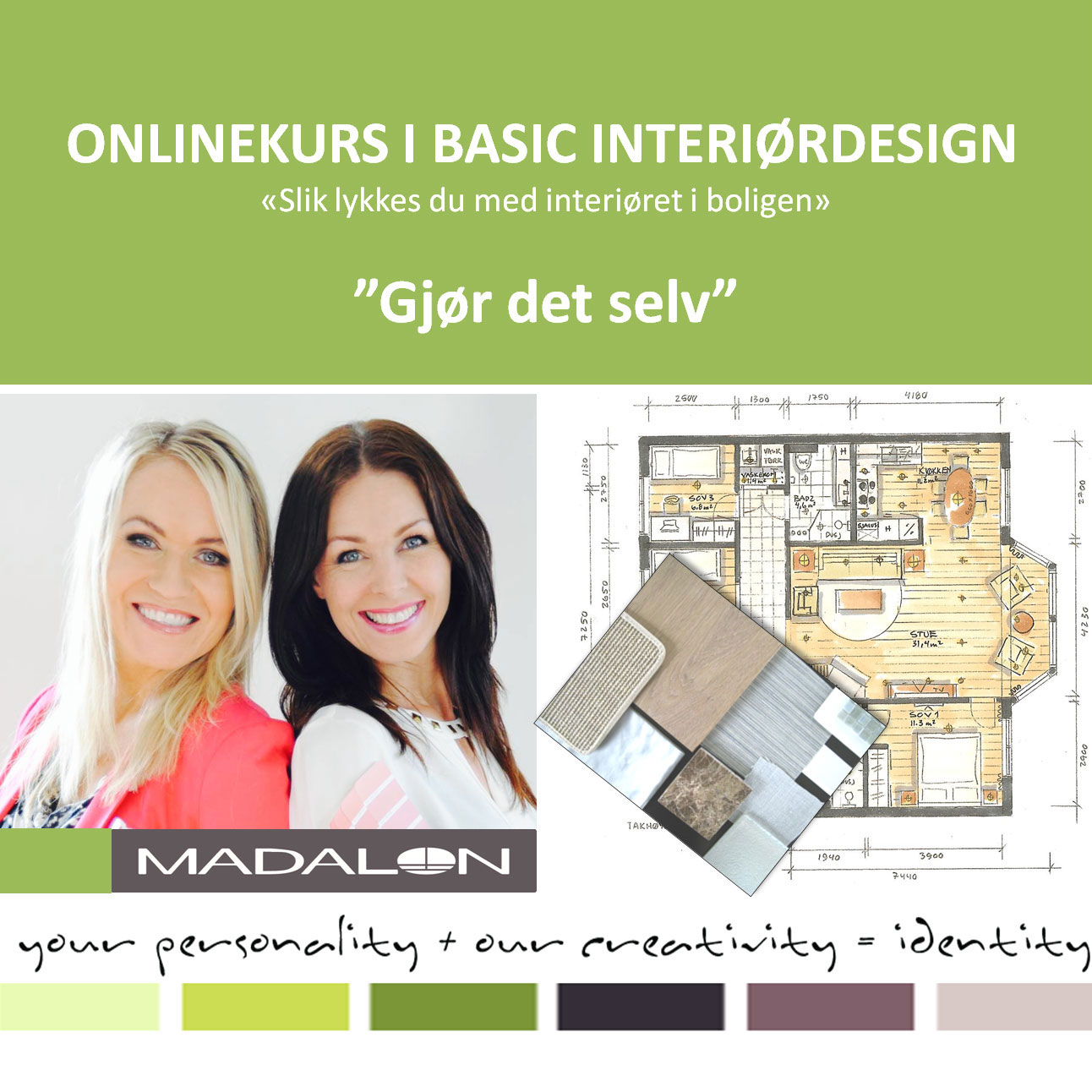 Basic Interiørdesign - online kurs